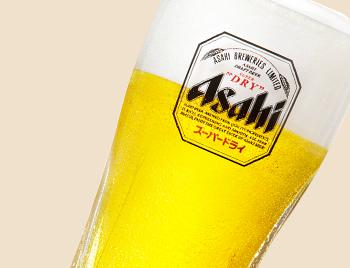 生ビール(アサヒ) 中480円(税別)