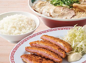 ハムカツ定食 +230円(税別)