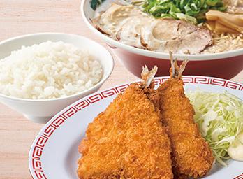 アジフライ定食 +230円(税別)