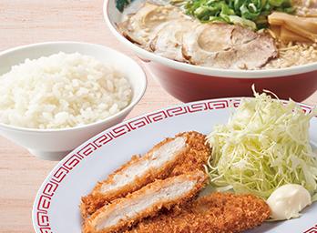 チキンカツ定食 +270円(税別)